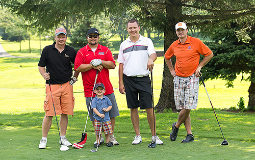 Jacob Overman charity gold outing for make a wish Minnesota photo